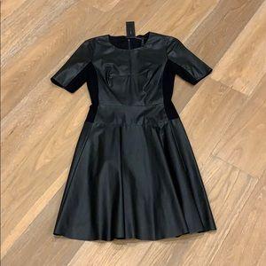 BCBGMaxAzria faux leather dress